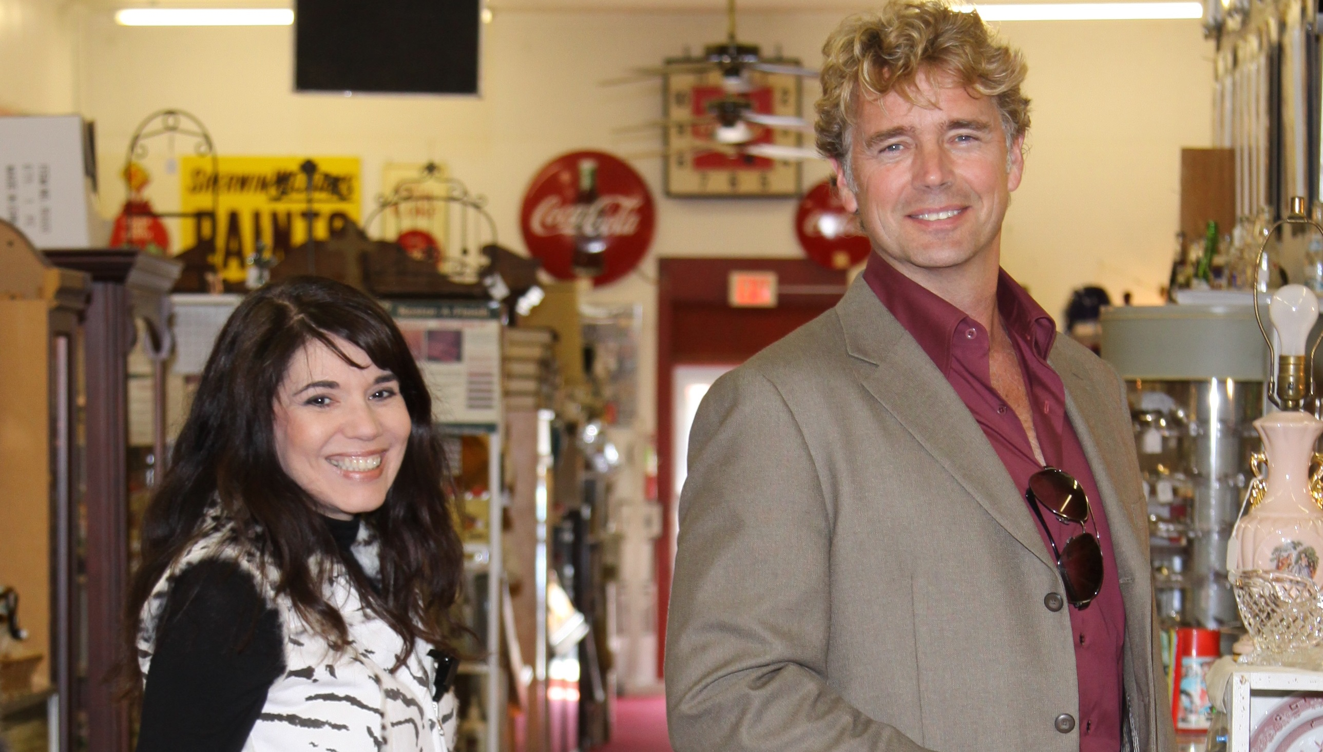 Christian film producer Cheryl Wicker and John Schneider